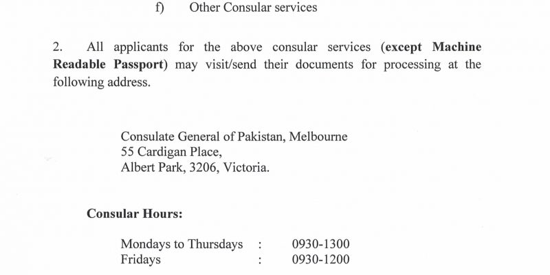 Latest News – High Commission for Pakistan, Canberra