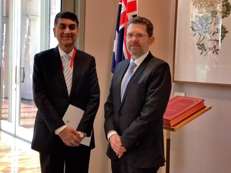 Meeting of High Commissioner for Pakistan, Mr. Babar Amin with the President of the Australian Senate, the Hon. Scott Ryan