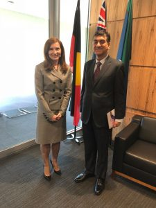 Meeting of the High Commissioner for Pakistan Mr. Babar Amin with Ms. Jenny Bloomfield, State Director, DFAT State Office Victoria, Melbourne
