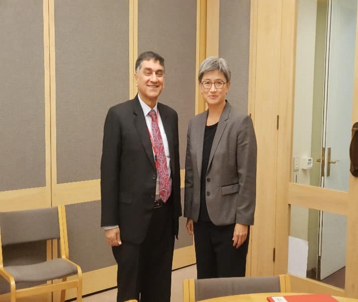 High Commissioner Babar Amin meeting with Shadow Foreign Minister Hon Senator Penny Wong