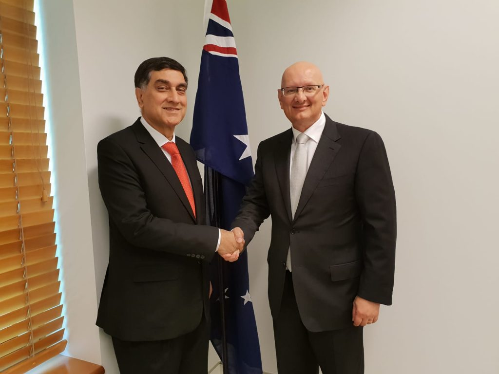 High Commissioner Babar Amin meets with Hon. Shayne Neumann MP, Shadow Minister for Immigration and Border Protection of Australia.
