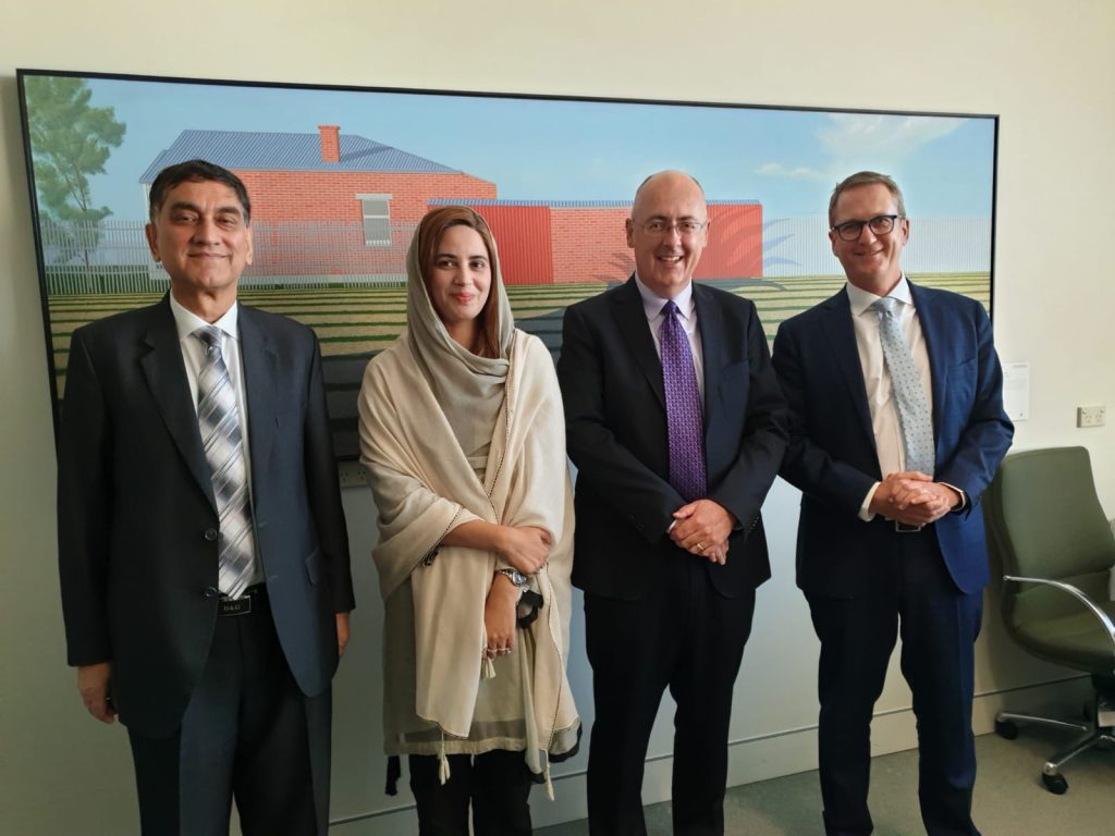 The Minister of State for Climate Change, Ms. Zartaj Gul visits Canberra