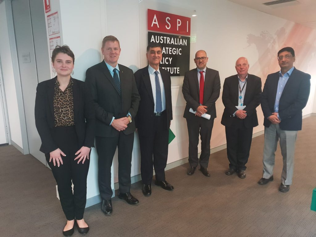 High Commissioner held a roundtable panel discussion with Australian Strategic Policy Institute