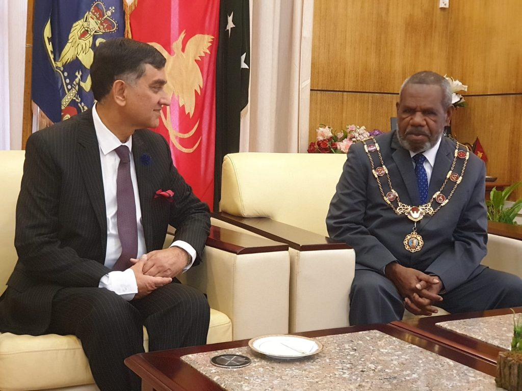 High Commissioner presented his letter of Credence to the Honorable Governor General of the Papua New Guinea