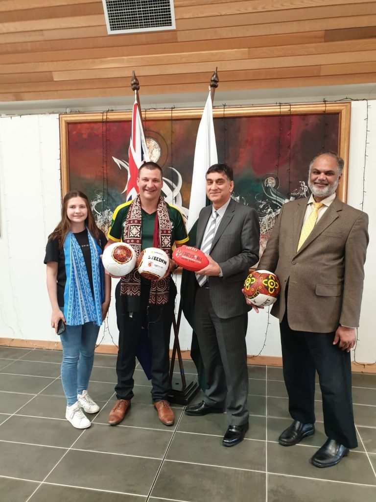 High Commissioner's meeting with AFL Coach, Director 'Footys4All'