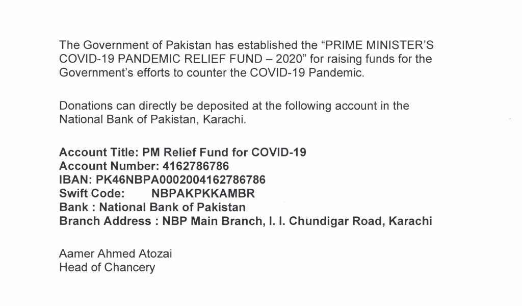 PM RELIEF FUND FOR COVID-19