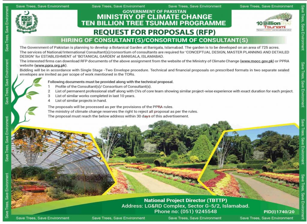 Request For Proposals (RFP) – Hiring of Consultant(s)/Consortium of Consultant(s)