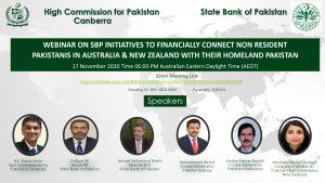 Webinar on State Bank of Pakistan initiatives to financially connect Non Resident Pakistanis in Australia & New Zealand with their Homeland Pakistan